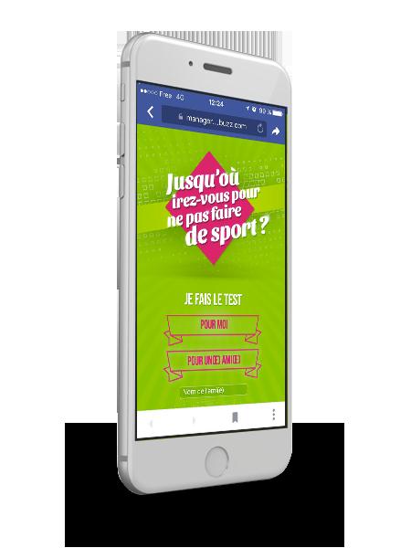 Application Facebook pour Keep cool