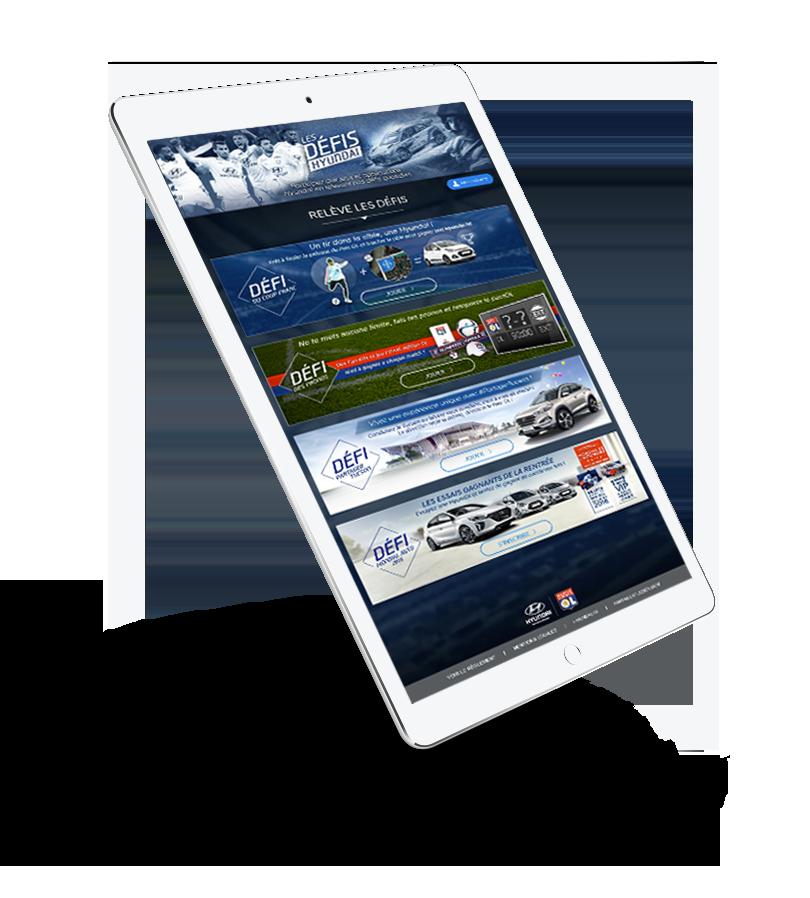 Application Facebook pour les défis Hyundai