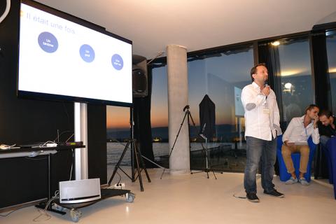 Alexandre Durain intervient lors de la SoBuzz conférence au Mucem de Marseille